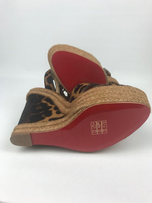 Brand New Louboutin 20th Anniversary Isabelle Wedges 38