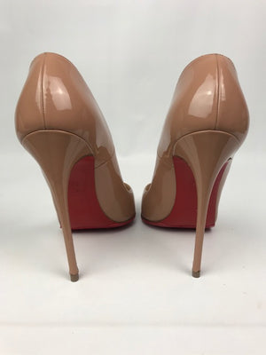 Christian Louboutin So Kate Nude Patent 36.5