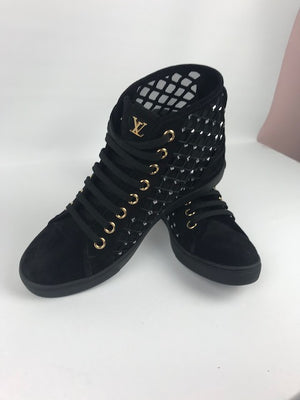 Brand New Louis Vuitton Mesh High Top Sneakers 38