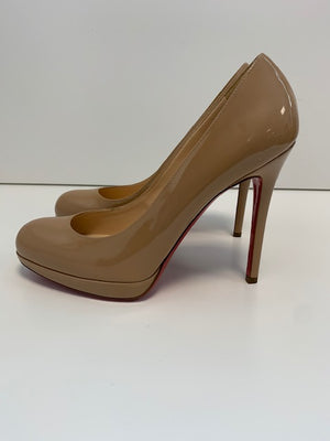Christian Louboutin New Simple Pump Nude Patent 38.5