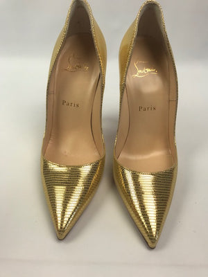 Brand New Christian Louboutin So Kate Laminato Dino Pumps 37