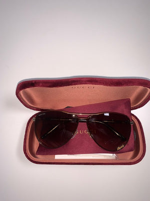 Brand New Gucci Tortoisesheel Gold Aviators