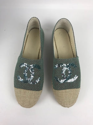 Brand New Chanel Sequin Espadrilles 40
