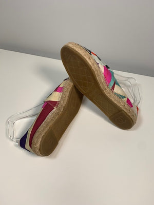 Chanel Canvas Espadrilles 38
