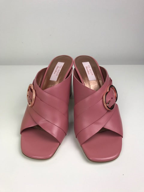 Brand New Ted Baker Malada Pink Leather Mules 39