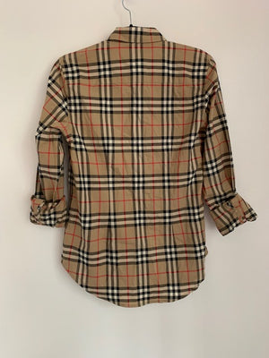 Burberry Ladies Shirt Vintage-Check Size 8