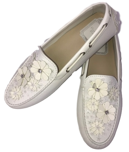 Brand New Dior Drive Me White Loafers 38.5