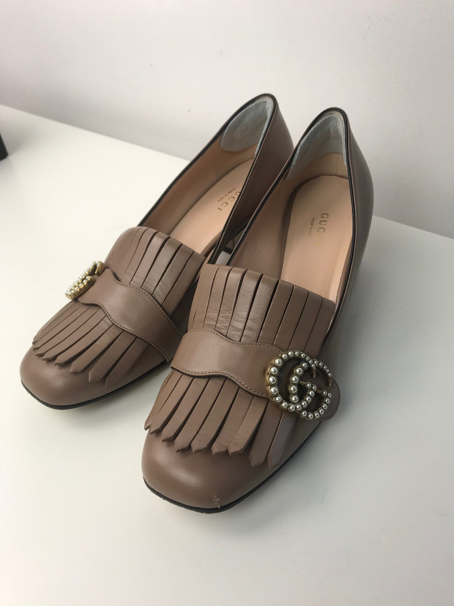 Gucci Pearl Marmont Loafers 38.5 (Runs Large)