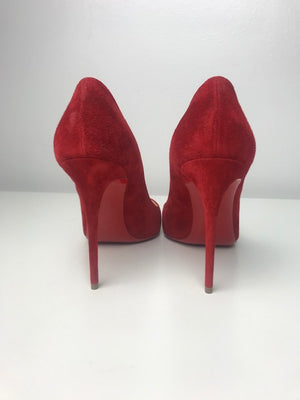 Brand New Christian Louboutin Pigalle Follies Suede 38