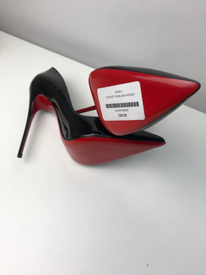 Brand New Christian Louboutin So Kate Black Patent 37