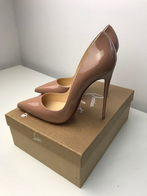 Brand New Christian Louboutin So Kate Nude Patent 40.5