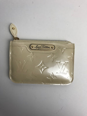 Louis Vuitton Off- White Monogram Vernis Cles Coin Purse