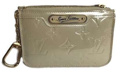 67aa15a4aec6 Louis Vuitton Off- White Monogram Vernis Cles Coin Purse - Love Luxe