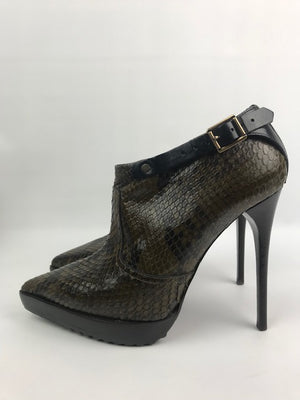 Burberry Alvary Python Ankle Boot 41