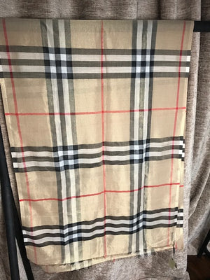 Brand New Burberry Limited Edition Giant Check Metallic Gauze Scarf