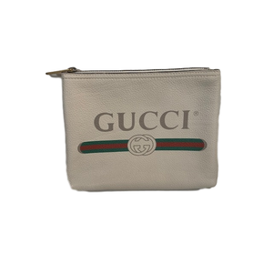 Brand New Logo Gucci Pouch / Clutch