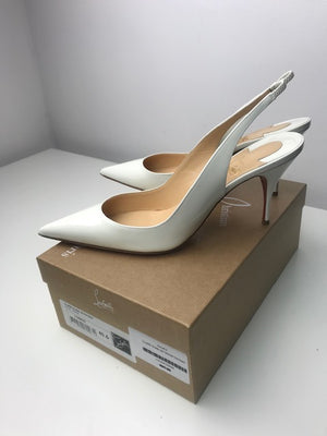 Brand New Christian Louboutin Claire Sling Patent 40.5