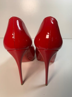 Christian Louboutin New Very Prive Red Patent 37.5