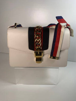 Brand New Gucci Sylvie Small White Handbag