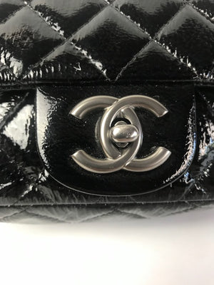Chanel Black Quilted Black Patent Mini Bag