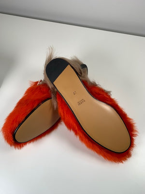 Brand New Gucci Fur Merino Slippers 37