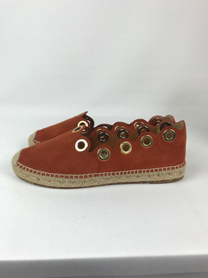 Brand New Chloe Rust Suede Espadrille 39