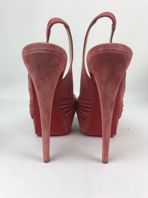 Brand New Christian Louboutin Jenny Pink Suede 39