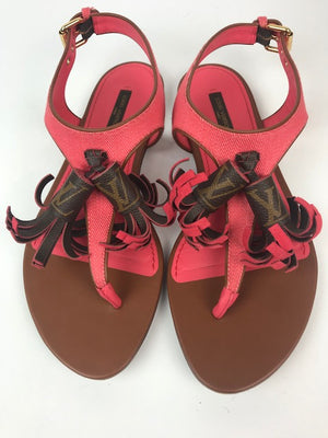 Louis Vuitton Destination Pink Sandals 39