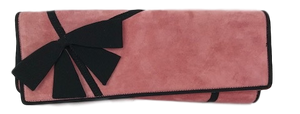 Brand New Christian Louboutin Lavalliere Suede Clutch Cameo Rose