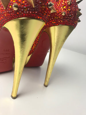 Brand New Christian Louboutin Very Mix Orange 36.5