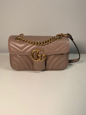 Brand New Gucci Marmont Mini Bag Rose Nude