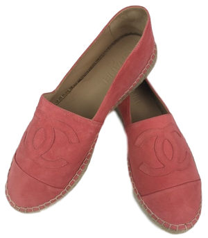 Brand New Chanel Pink Suede Espadrille 40