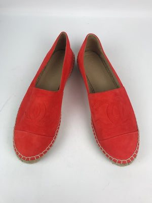 Brand New Chanel espadrilles Orange Suede 40