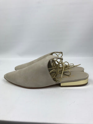Brand New Chanel Beige Suede Cruise Paris-Dubai Flats 39