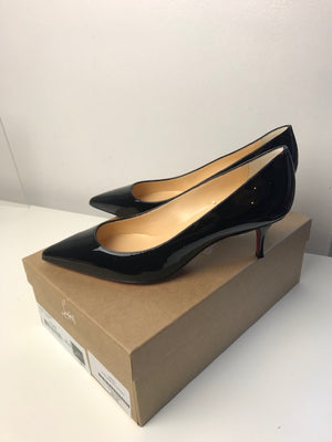 Brand New Christian Louboutin Kate Black Patent 36.5