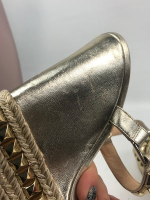 Christian Louboutin Cactaclou Wedges Light Gold 36
