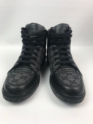 Gucci Mens Monogram Grey High Tops 39