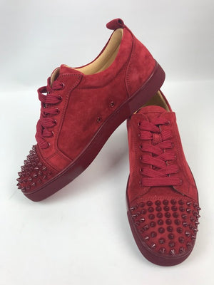 Brand New Christian Louboutin Junior Spikes Veau Velours 42
