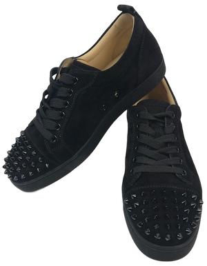 Brand New Christian Louboutin Louis Junior Spikes Women Black 39.5