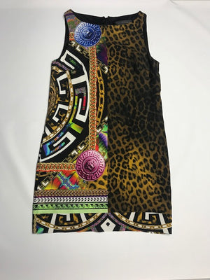 Versace Leopard-Print Shift Dress  40IT