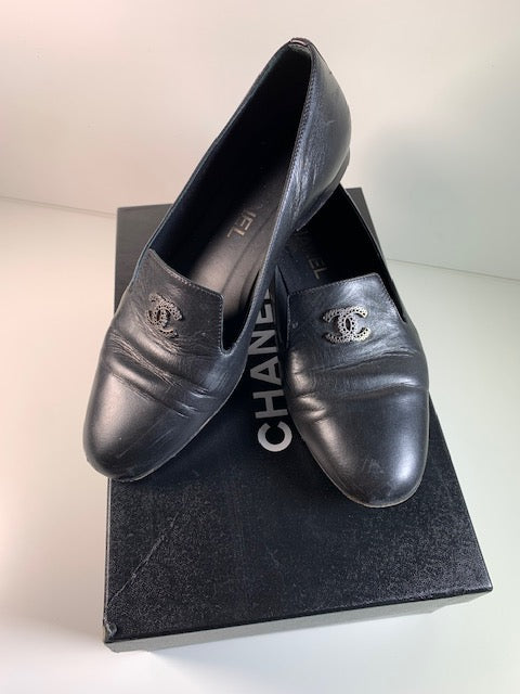 Chanel Black Loafers 37