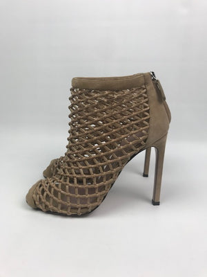 Brand New Gucci Beige Suede Caged Sandals 37