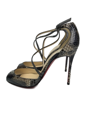 Brand New Christian Louboutin So F Python Sandals 39.5