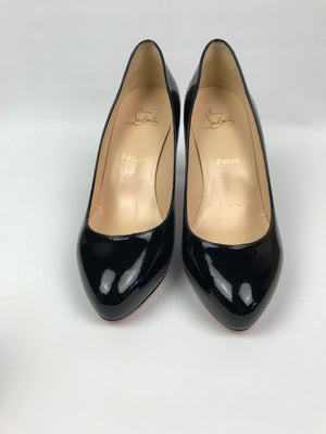 Brand New Christian Louboutin Delic Black Patent 39.5