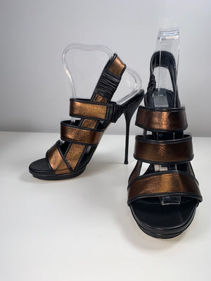 Brand New Gucci Bronze Charlotte Sandals 39