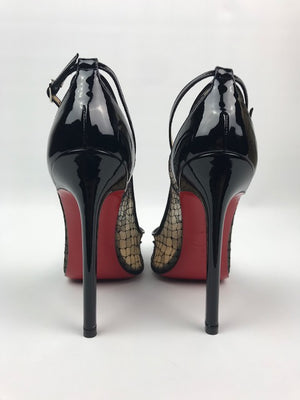 Brand New Christian Louboutin Lace, Spike And Strass Pumps 36