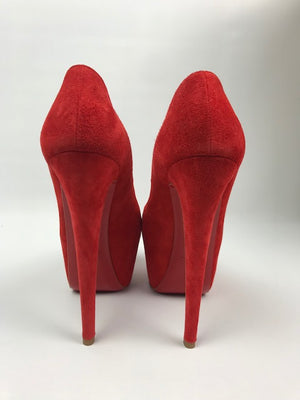 Brand New Mandarin Suede Highness Pumps 36.5