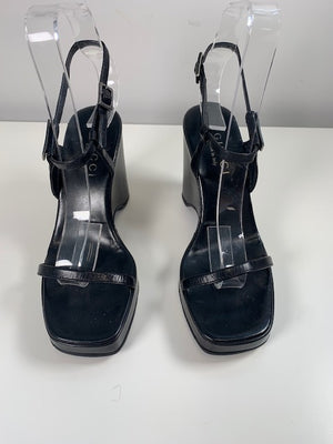 Gucci Black Wedges 35.5