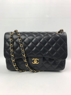 Chanel Caviar Jumbo 2.55 Flap Bag