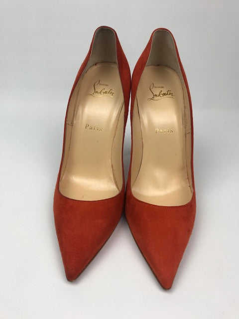 best service 089e4 e6793 Brand New Christian Louboutin So Kate Orange Suede 39